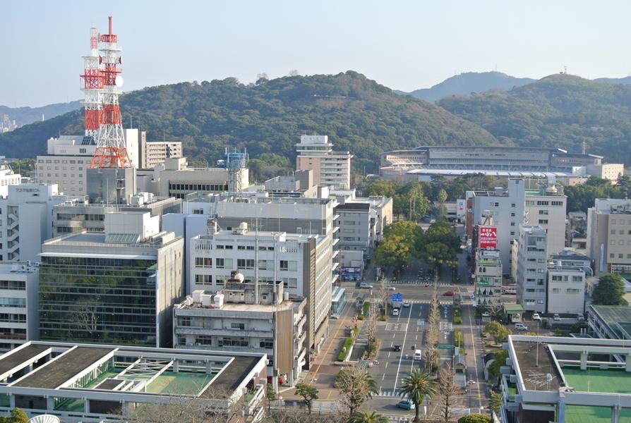 高知城 天守閣からの眺め