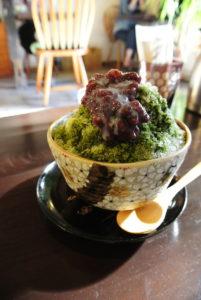 cafe ヒペリカムの抹茶かき氷